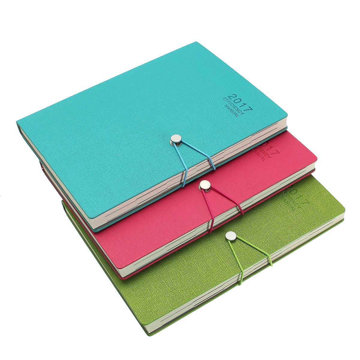 Buy A4 Planner Synthetic Leather Loose Leaf Weekly Notebook with 180 Sheets
