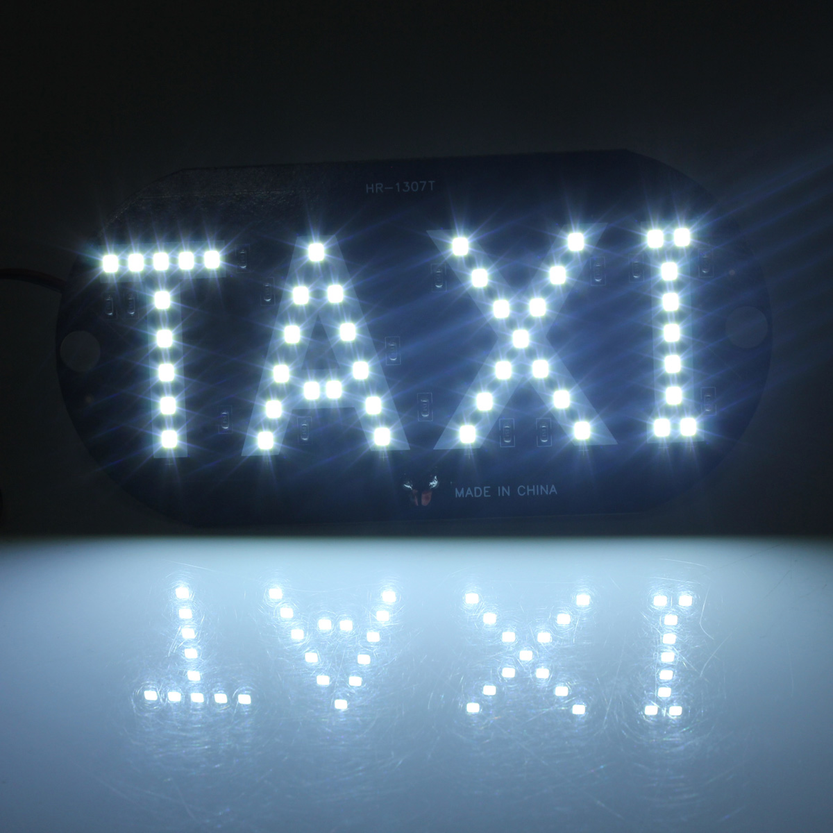 car white led cab taxi roof sign light 12v vehical inside. Black Bedroom Furniture Sets. Home Design Ideas