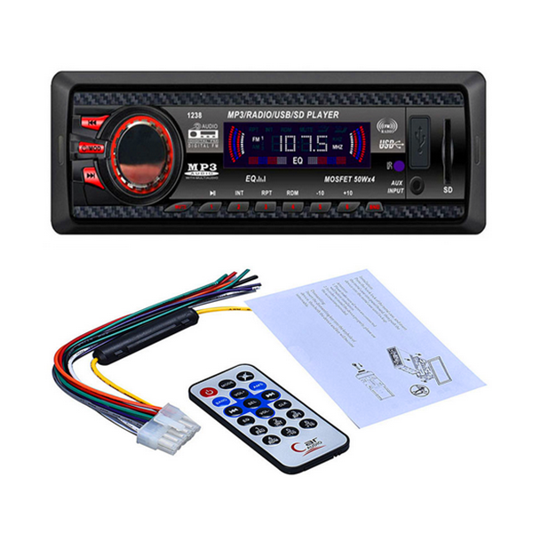 Buy 12V Car Stereo FM Radio MP3 Audio Player USB/SD/AUX/APE/FLAC Electronics Subwoofer Dash FMAUX