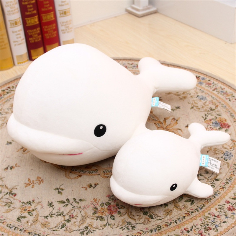 1PCS Cute Beluga White Whale Soft Animal Doll Ornament Stuffed Plush Toy Decor - Photo: 5