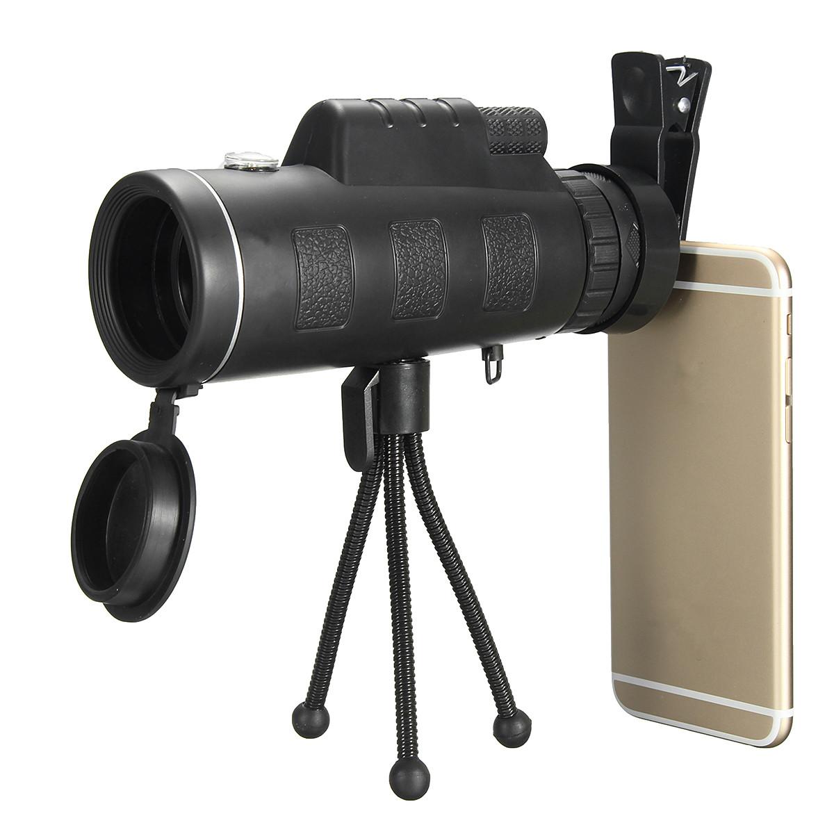 x Telescopio Monocular Portable Impermeable Alta Definición Viaje HD con brújula