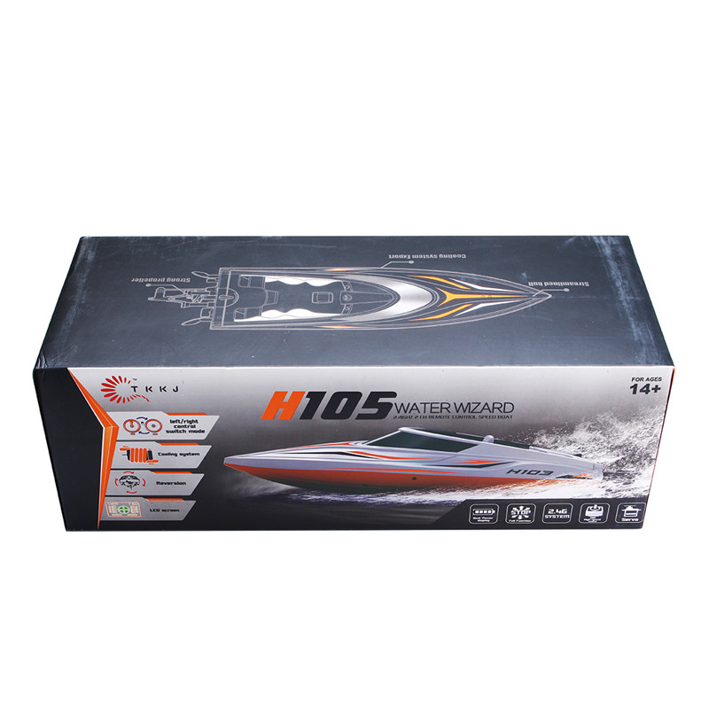 TKKJ H105 1/16 2.4G High Speed RC Racing Boat With Water Cooling System Toys