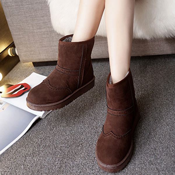 Winter Women Keep Warm Boots Suede Comfortable Casual Ankle Short Snow Boots
