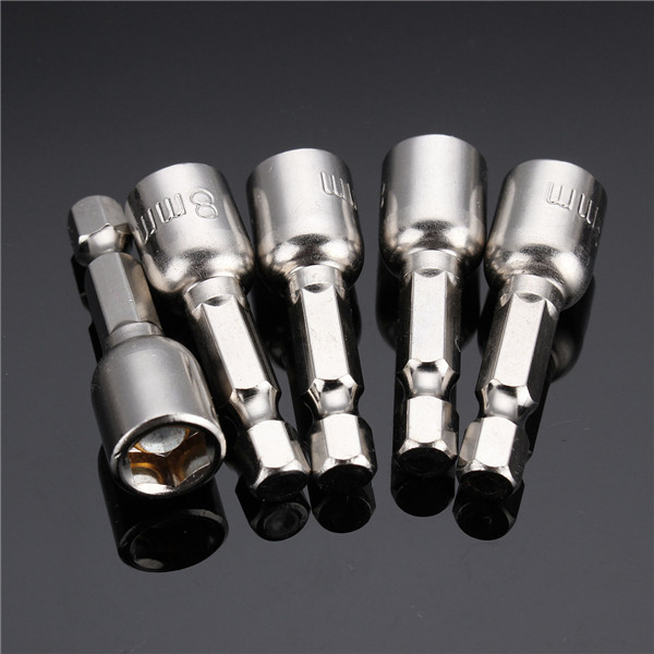 5pcs 8mm Magnetic Hex Head 42mm Socket Bit