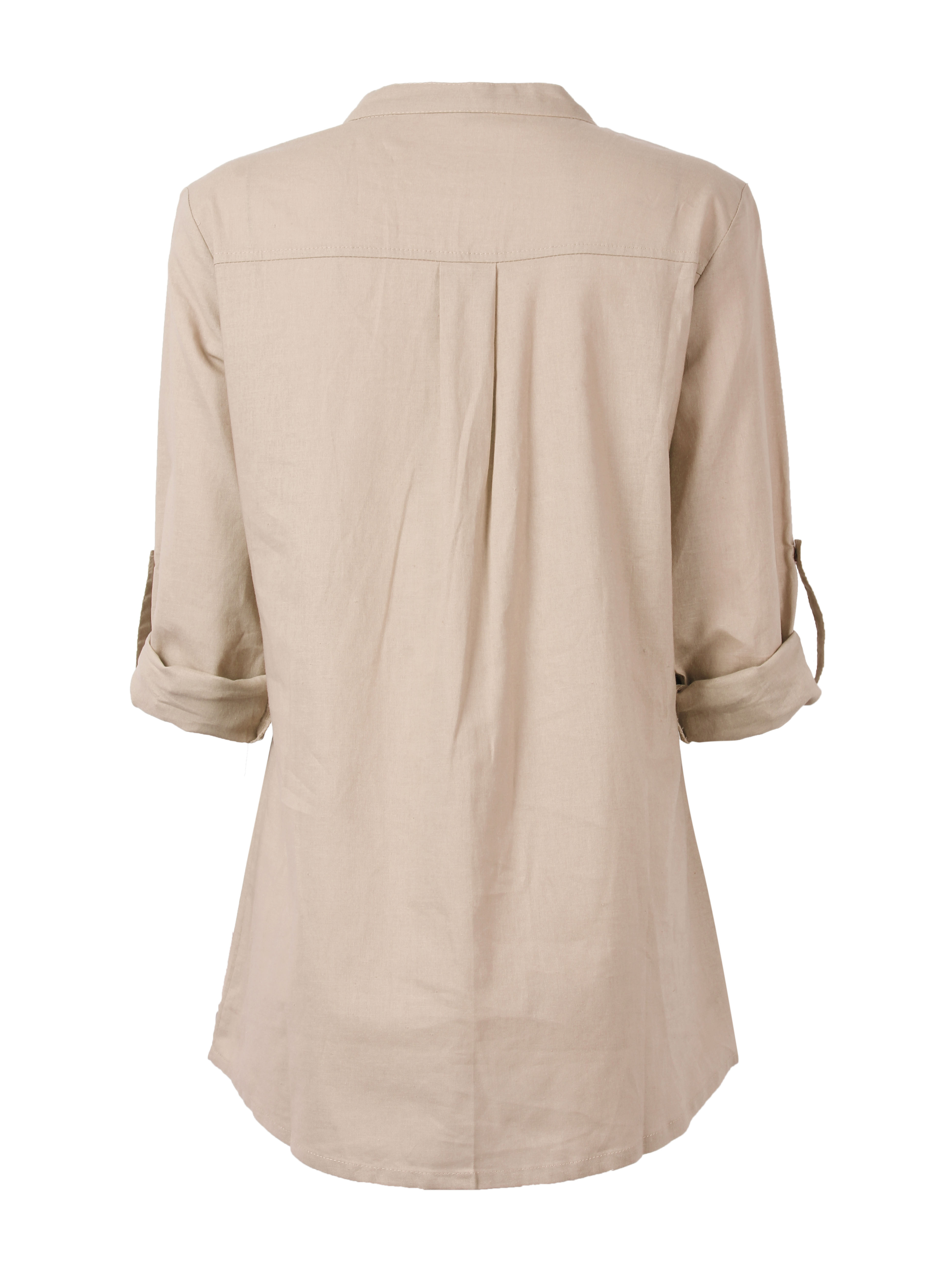 Loose Women Lace Embroidery Long Sleeve Linen Blouses Shirts