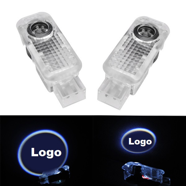 Buy Pair 5W LED Door Welcome Emblems Light With Car Logo for Audi Special