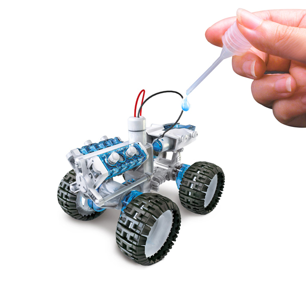 DIY003 Self-assembled Salt Water Fueled DIY Space Vehicle Car Toy for Kids Gift