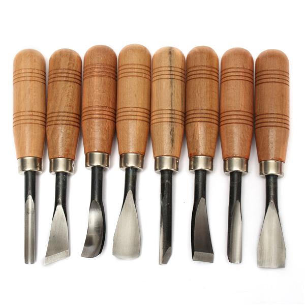 8pcs woodpecker graver wood carving knife chisel wood - Herramientas para cortar madera ...