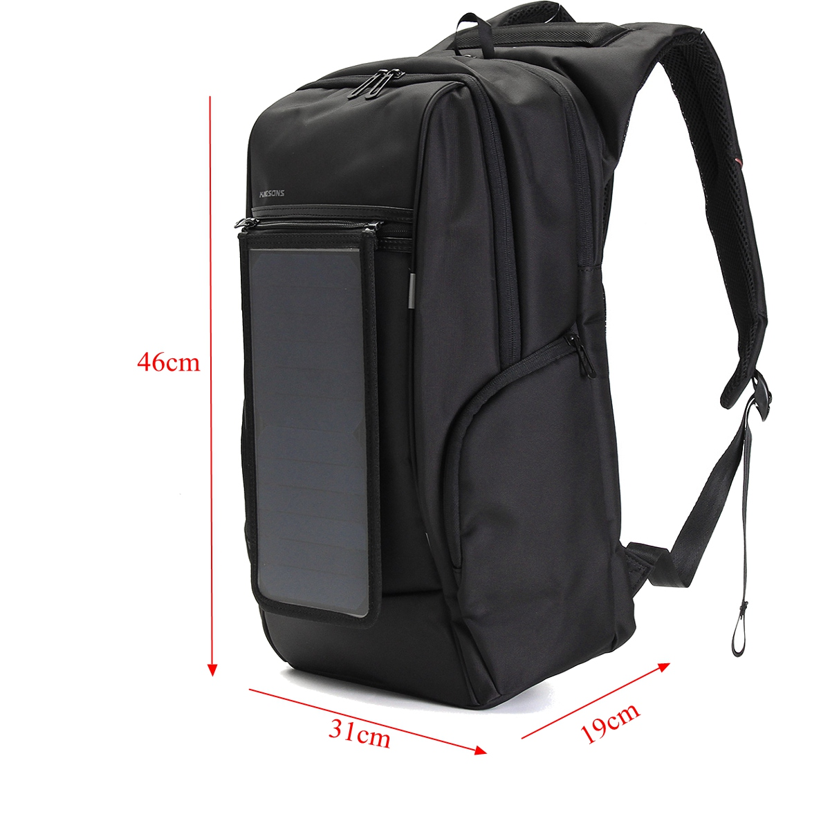 15 6 Inch Outdoor Travel Solar Panel Backpack With Usb