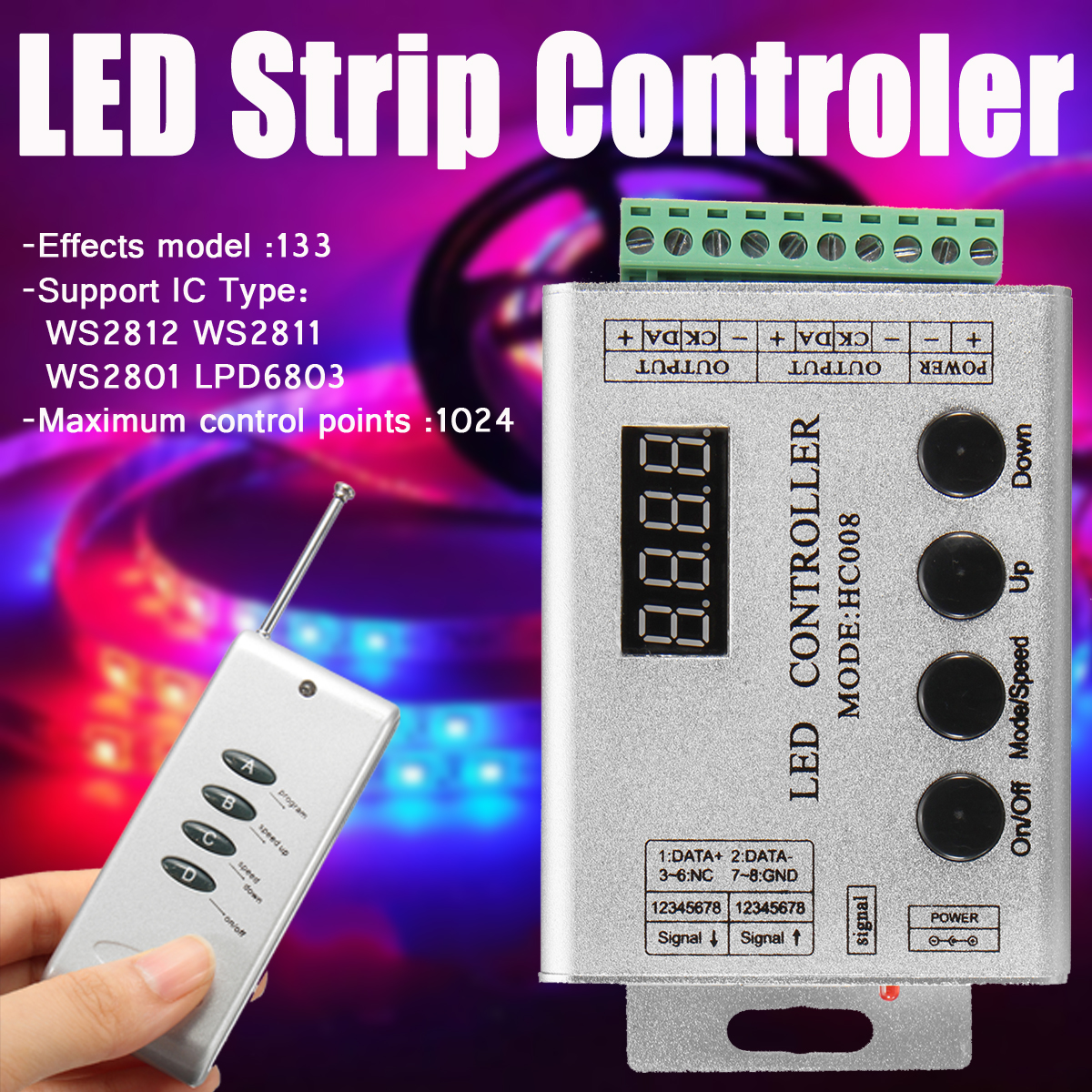 Other Electrical Supplies Dc12v Rgb Led Strip Pixel Bar Hc008 Rf Controller Wiring Diagram The To Provide Color And Label Correct 3 This Product Can Not Be Overloaded Package Included 1led