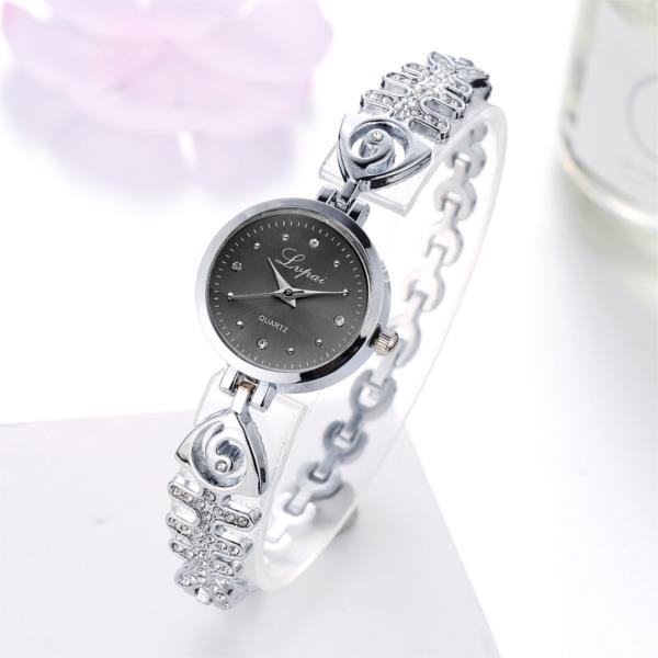 LVPAI P123 Fashion Women Quartz Wristwatch Luxury Fish Bone Strap Ladies Dress Bracelet Watch