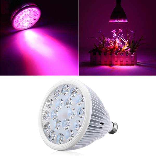 36W E27 LED Full Spectrum Grow Light Lamp Blub for Indo