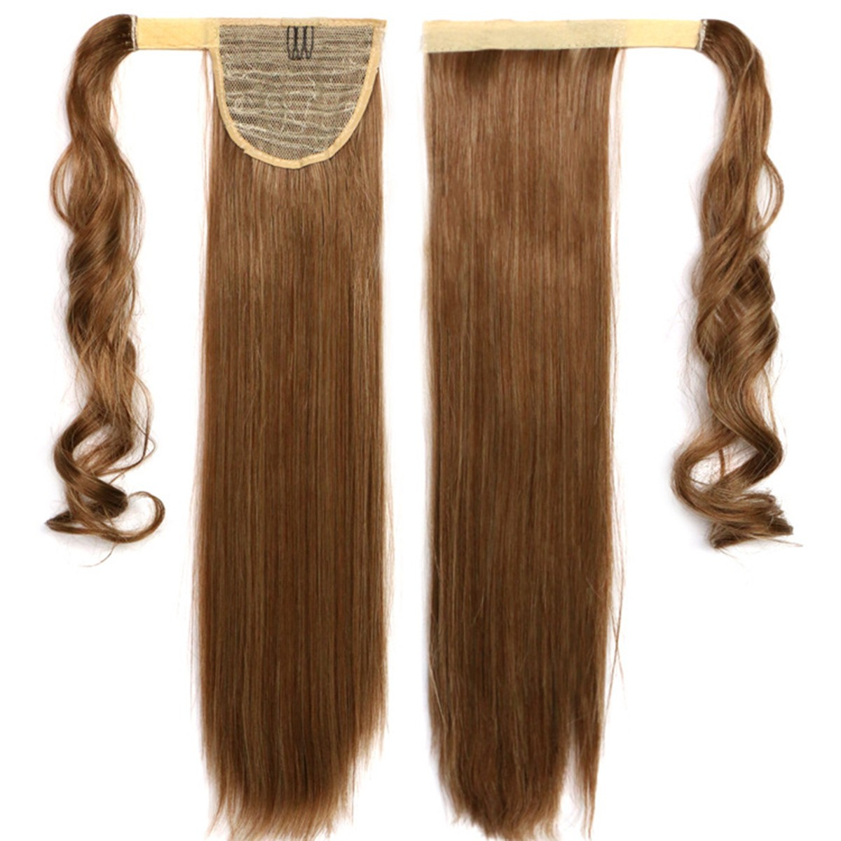 Wrap Around Clip In Magic Paste Ponytail Hair Extensions