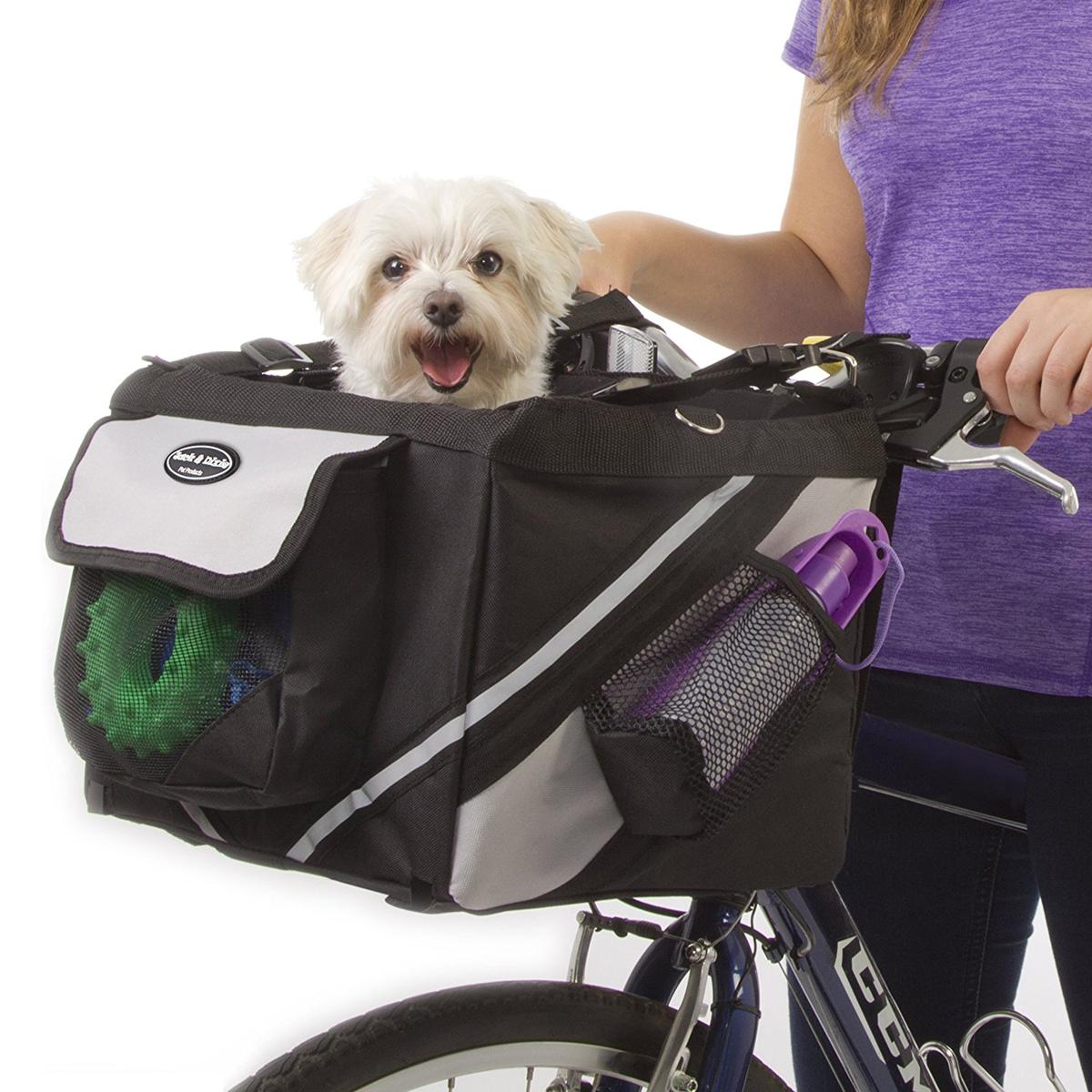 Cachorros de mascotas Cesta de la bicicleta de almacenamiento Puppy Ride Bike