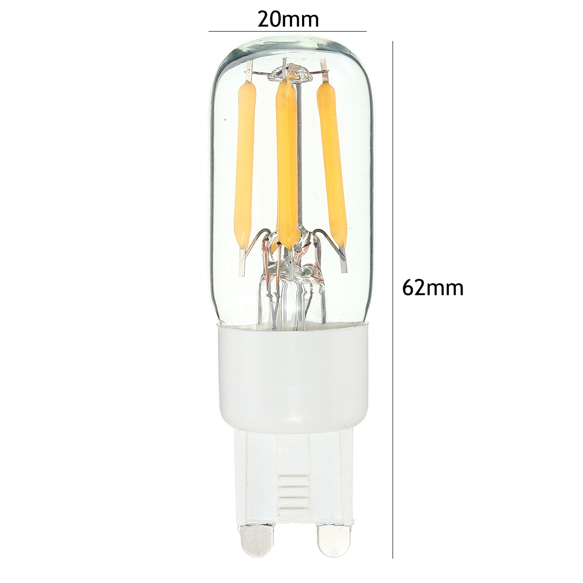 Mini G9 2W Dimbare Retro LED gloeilamp Koelkast Chandelier Light Replacement