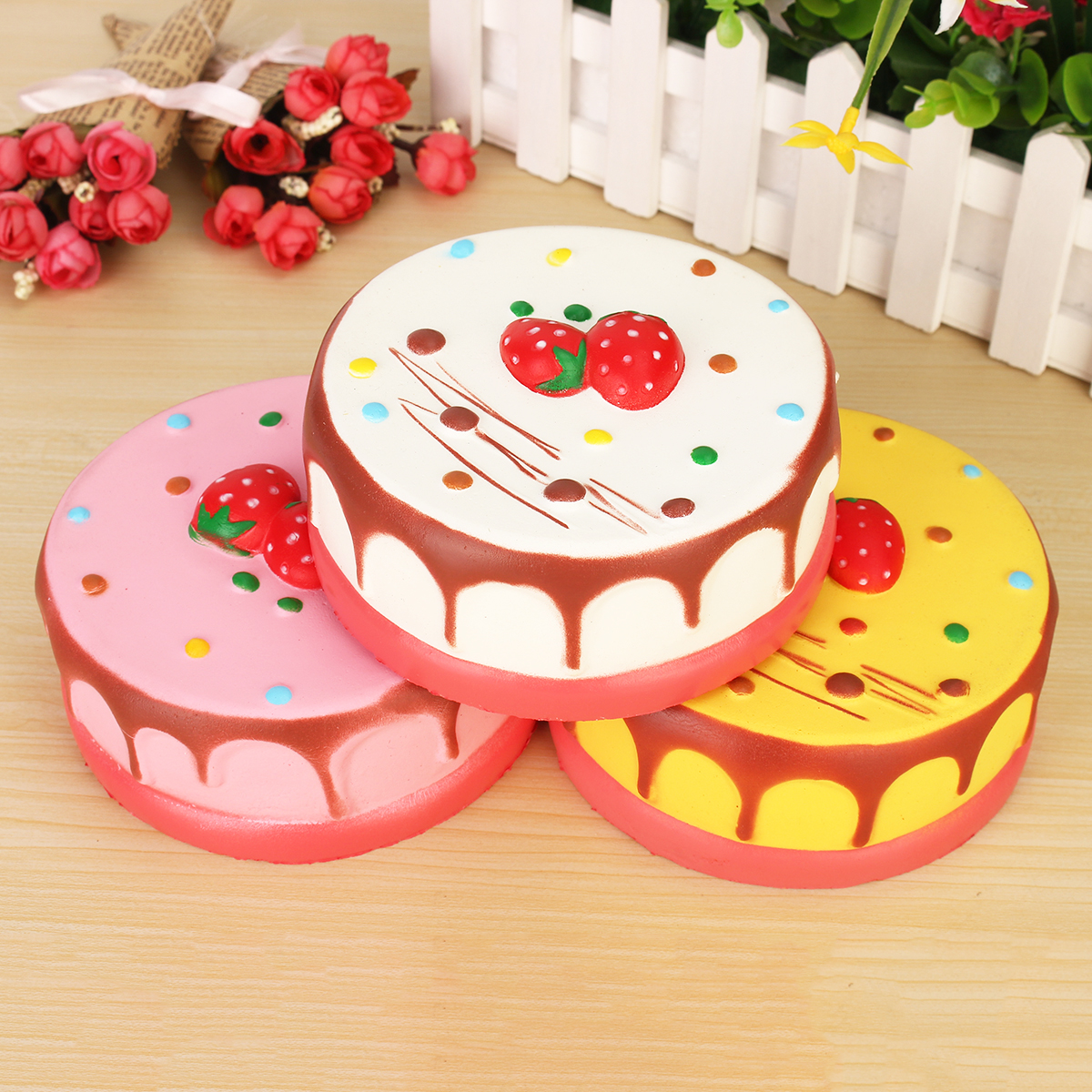 Squishy Cake Toy Target : 13CM Scented Cream Strawberry Cake Squishy Super Slow Rising Soft Press Exquisite Toy for ...