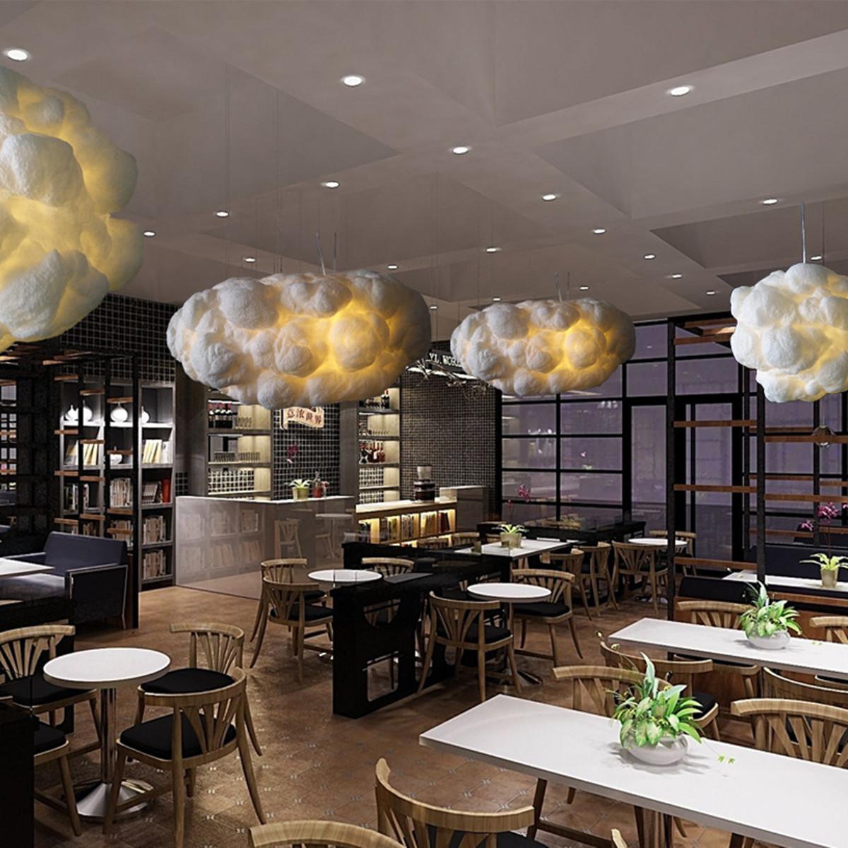 White Floating Cloud Pendant Light Restaurant Bar Lamp