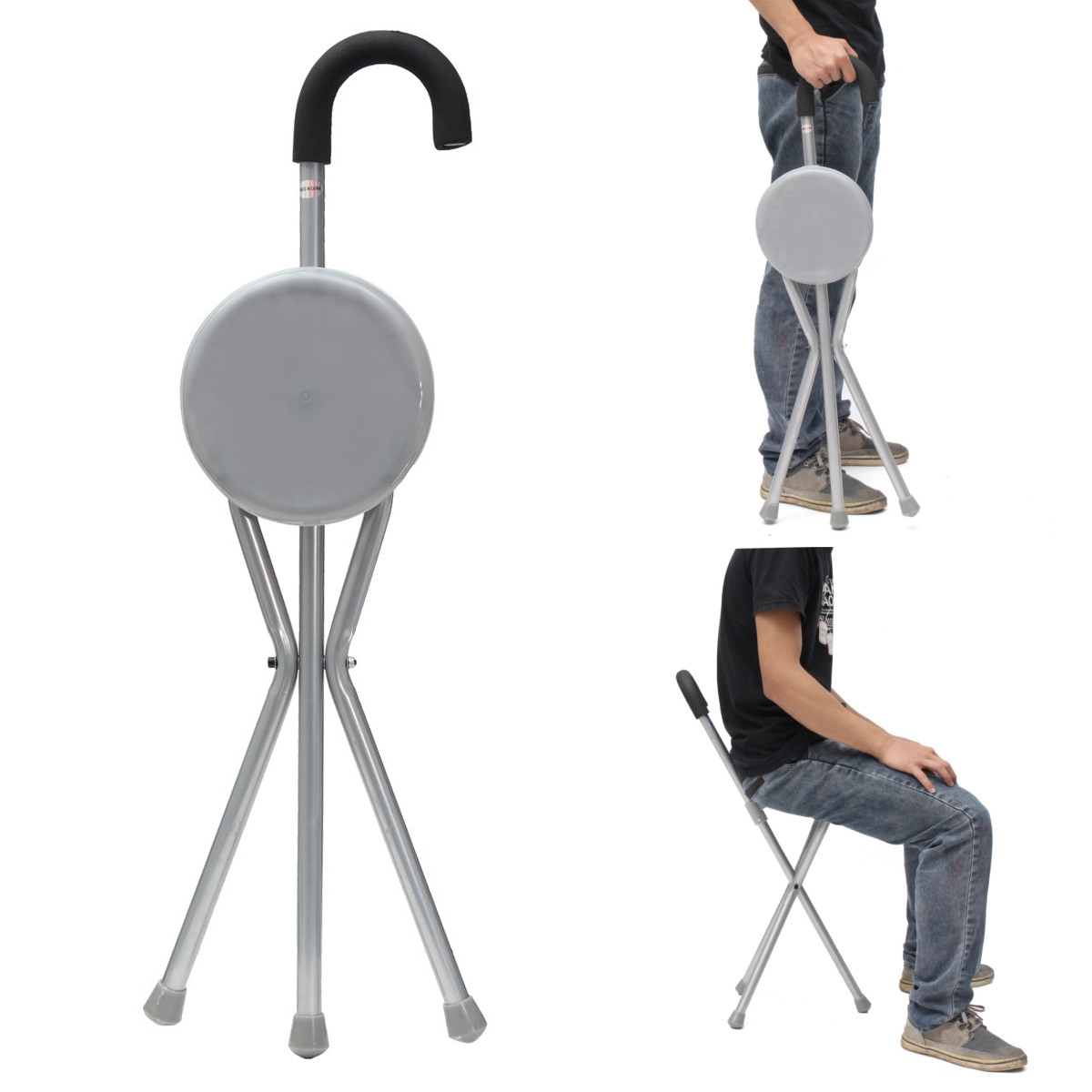 Compare Oxford Portable Telescopic Stool Travel Walking