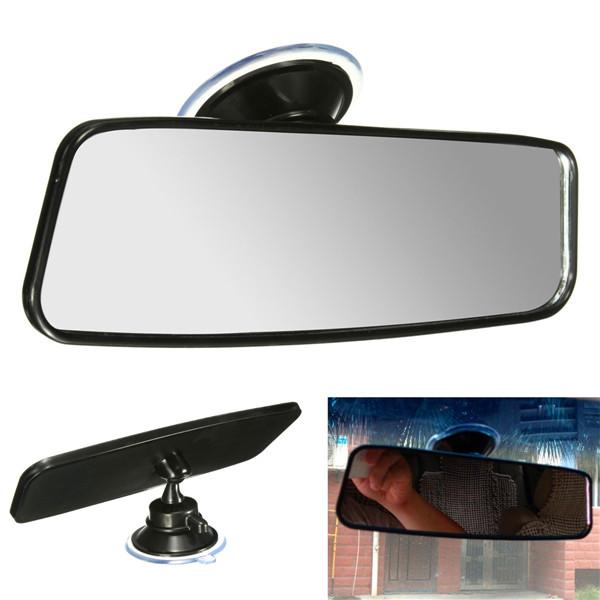 Universal Car Van Truck Wide Flat Interior Rear View Mirror Adjustable Suction