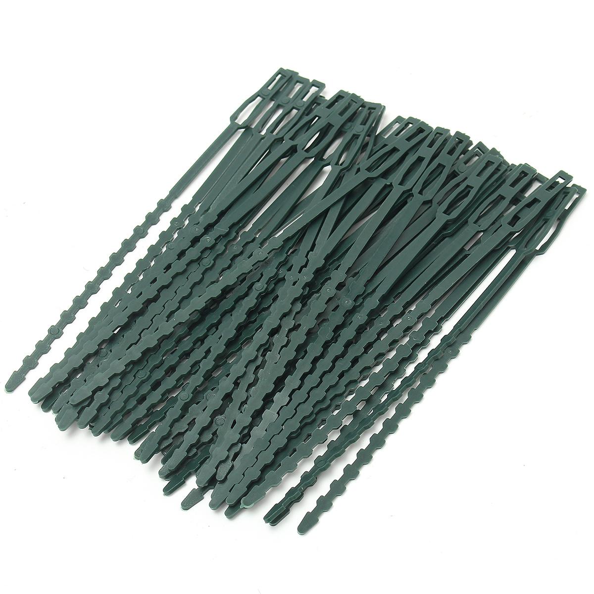 50pcs Reusable Garden Plastic Plant Cable Ties Straps