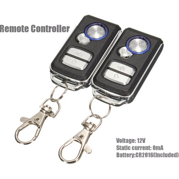 Car Vehicle Alarm Protection Security System Keyless Entry Siren Remote Control