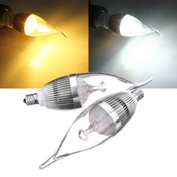 E12 3W 300-330lm LED Chandelier Candle Light Bulb 85-26