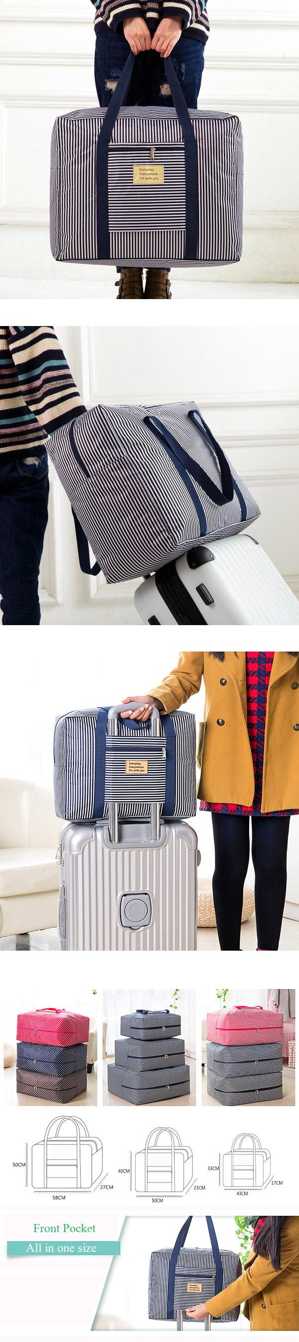 Women Men Oxford Cloth Waterproof Travel Stroage Bag Luggage Bag