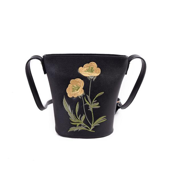 Women Lovely Bucket Flower Pattern Shoulder Bags Crossbody Bags