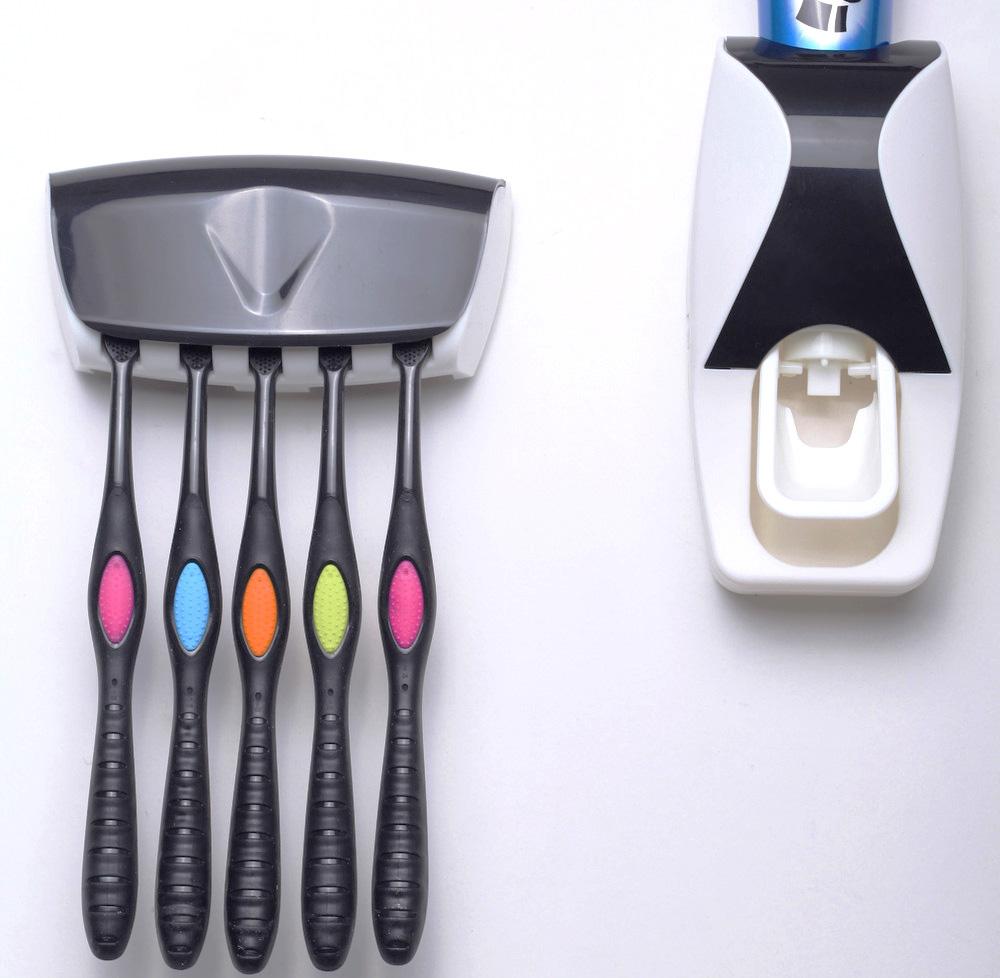 Automático Cuarto de baño distribuidor de pasta de dientes montado la pared
