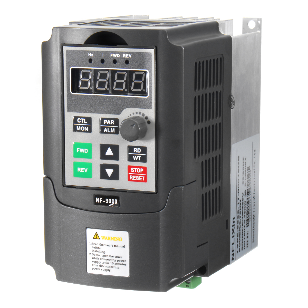 220V 0.75KW 4A Single Phase Variable Speed Motor Drive