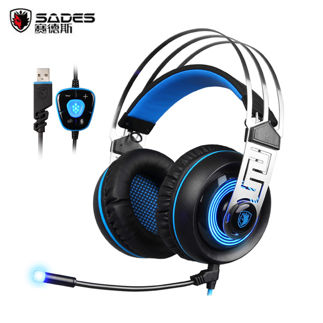 SADES A  Virtual sonido envolvente Gaming Headset USB con cable auricular