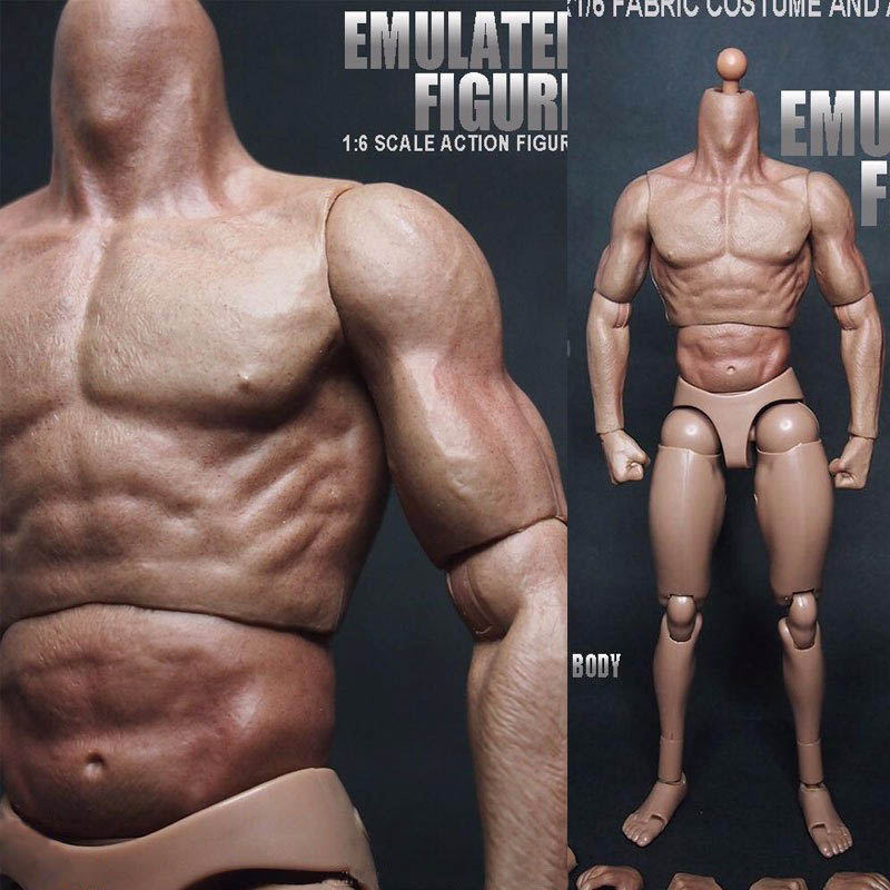 1/6 Scale Action Figure Male Nude Muscular Body 12' Plastic Toy for TTM18/19
