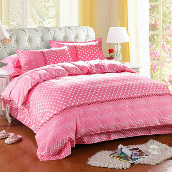 3 Or 4pcs Dot Pattern Paint Printing Cotton Blend Bedding Sets Twin Full Queen Size voordeligste