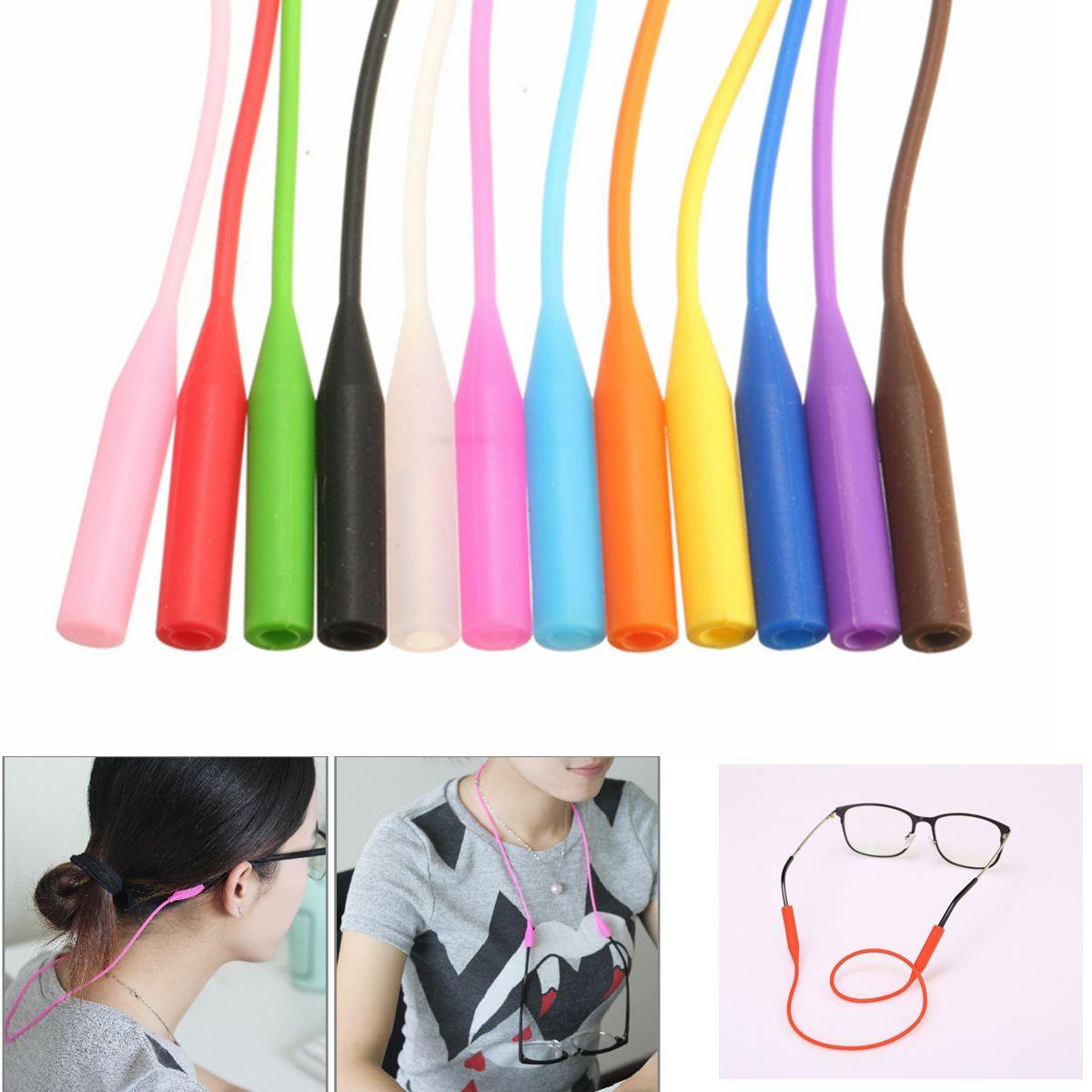 Buy 53cm Adjustable Glasses Strap Neck Cord Sports Eye glasses Band Sunglasses Rope Strin