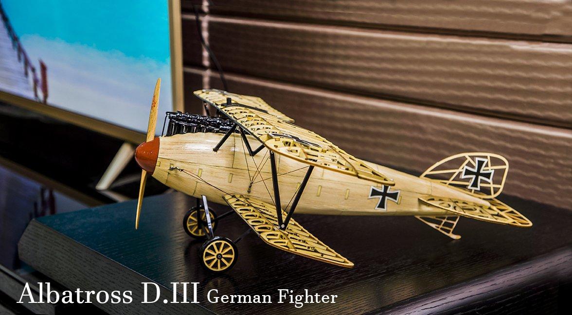 Albatross D.III German Fighter 492mm Wingspan Balsa Wood Airplane Handicrafts Decoration - Photo: 3