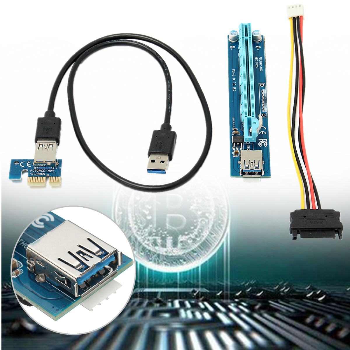 Other Desktop Components - 60cm USB 3.0 PCI-E Express 1x To 16x ...