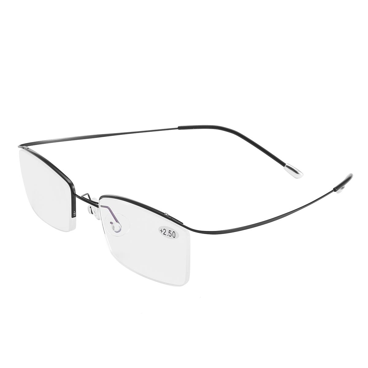 d23570fcef BRAODISION Presbyopic Reading Glasses HD Coated Resin Lens Flexible  Titanium Frame