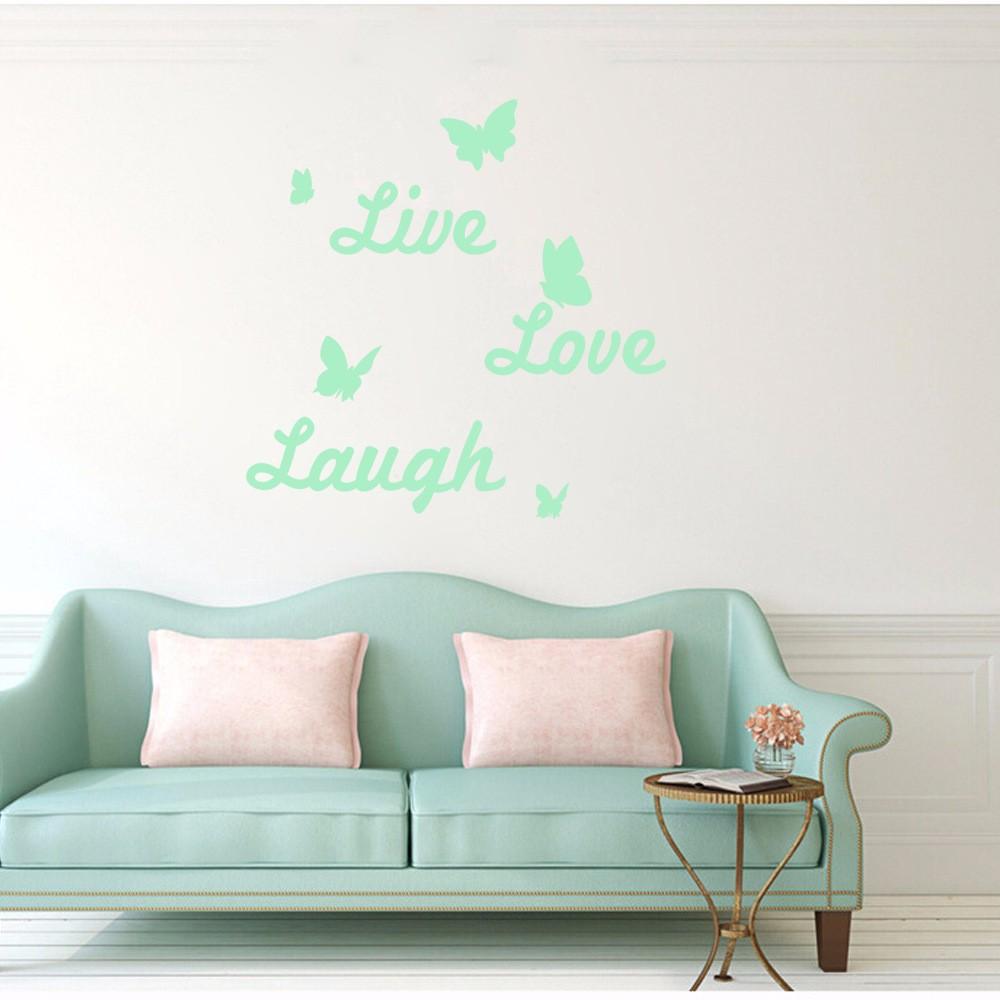 Honana DX 148 60X60cm Fluorescent Glow Letter Live Love Laugh Wall Sticker Part 63