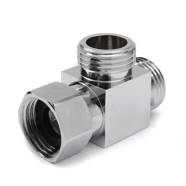 3 way g 1 2 brass shower diverter valve angle valve t adapter bathroom. Black Bedroom Furniture Sets. Home Design Ideas