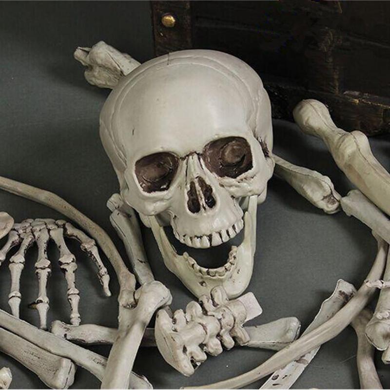 28PCS Adult Skeleton Bone Grave Skull Halloween Haunted House Decoration Props - Photo: 3