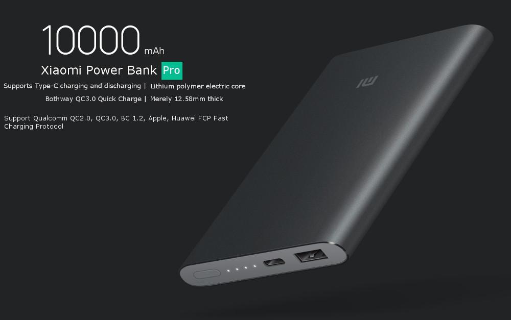 Original Xiaomi 10000mah Qc3 0 Polyme Power Bank Pro With
