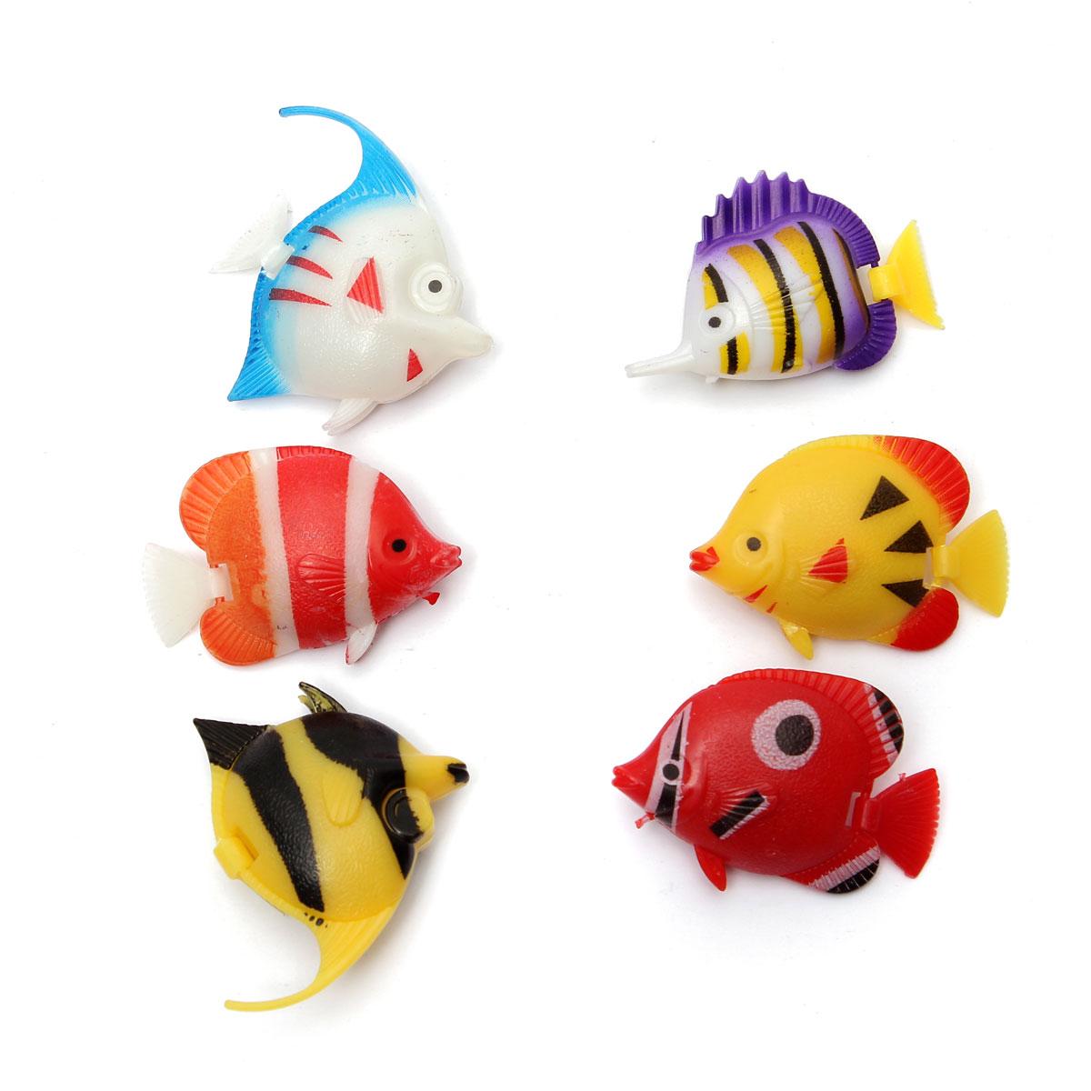 6pcs aquarium d 39 aquarium poisson artificiel d coration d for Poisson decoration aquarium