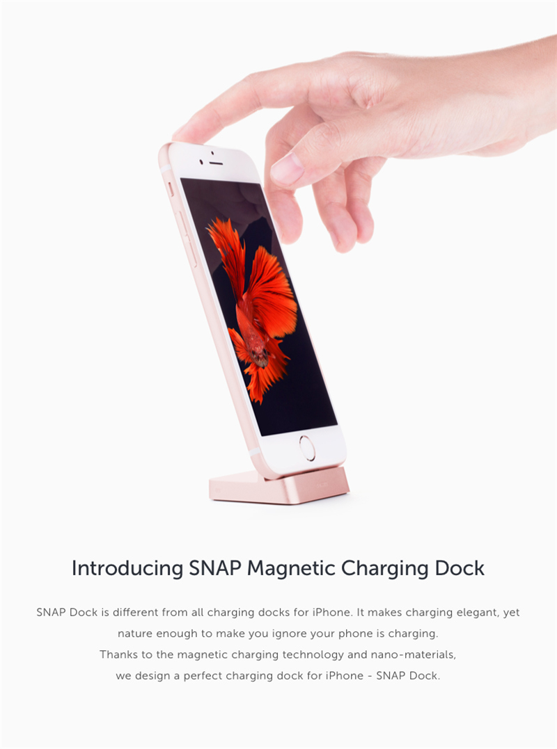 SNAP Magnetic USB Charging Dock Metal Holder Stand Charger ...