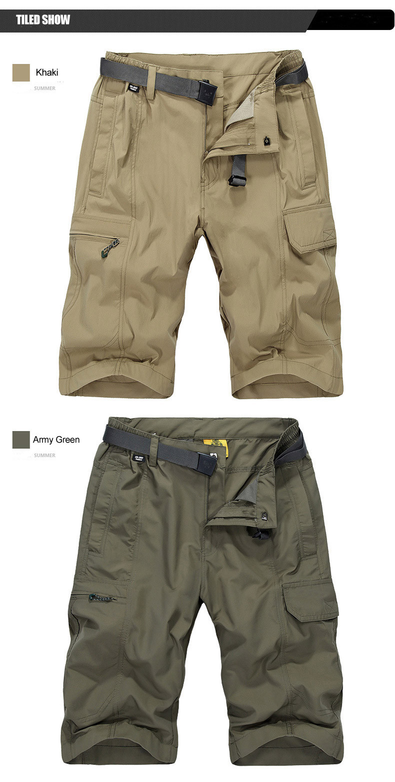 Customized Vesion Mens Cargo Shorts Water Repellent Quick ...