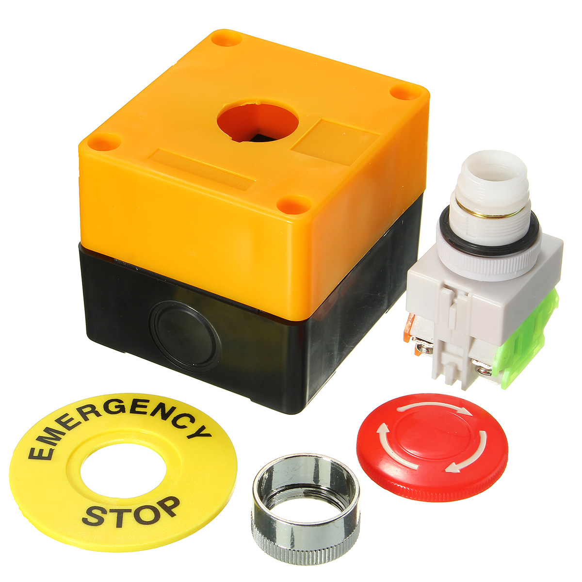 Push Button Switch 1 NO 1 NC 10A 660V Emergency Stop Waterproof