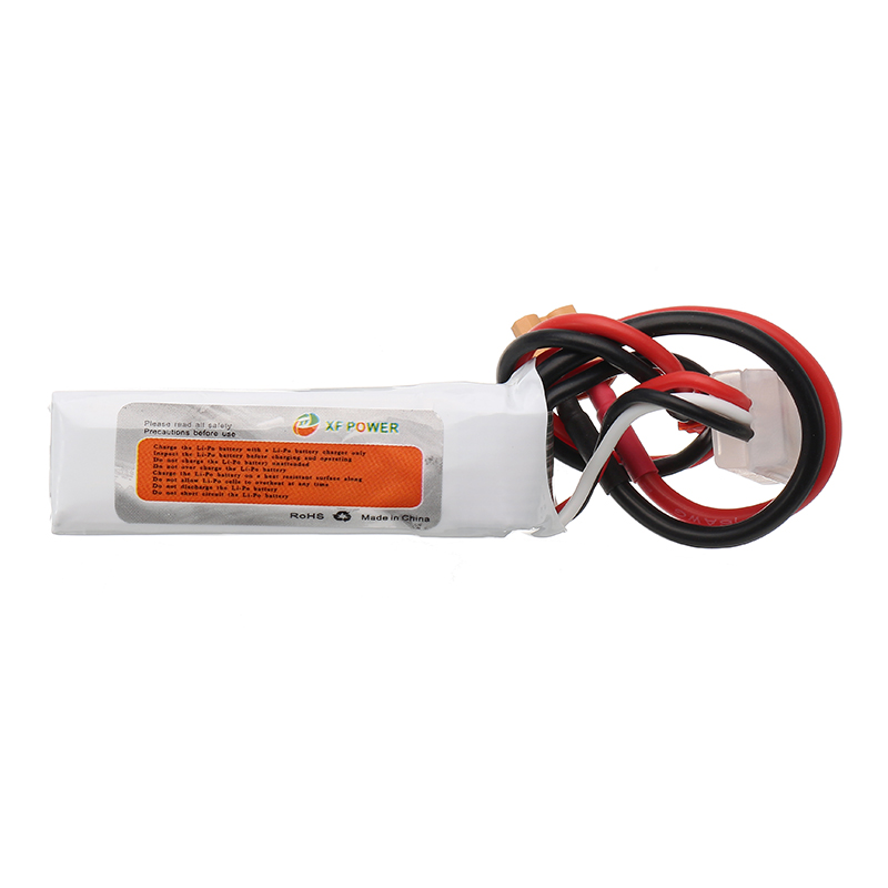 XF Power 7.4V 450mah 2S 80C Lipo Battery JST XT30 Plug