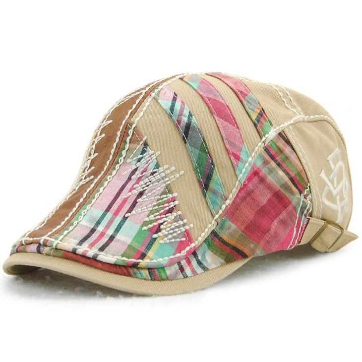 866d5889 Unisex Cotton Stripe Washed Beret Hat Buckle Adjustable Paper Boy Newsboy  Cabbie Golf Gentleman Cap - banggood.com - imall.com