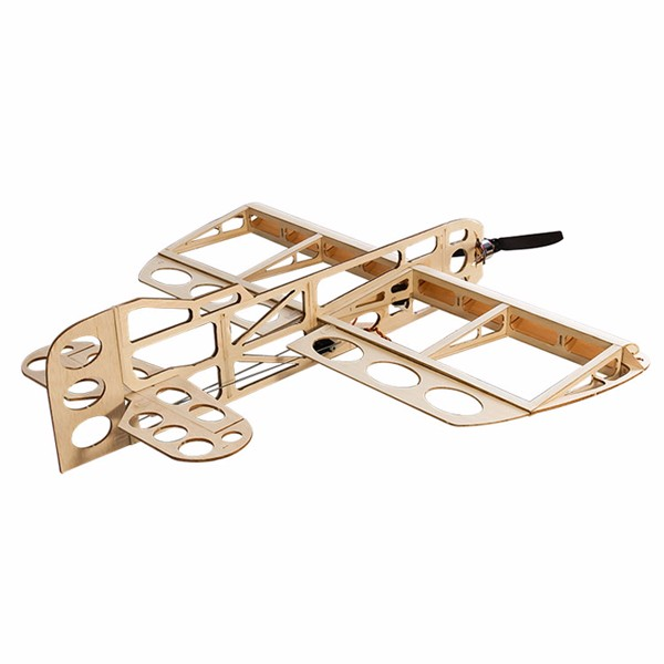 GEEBEE Balsa Wood Laser Cut 600mm Wingspan RC Airplane Building Kit - Photo: 4