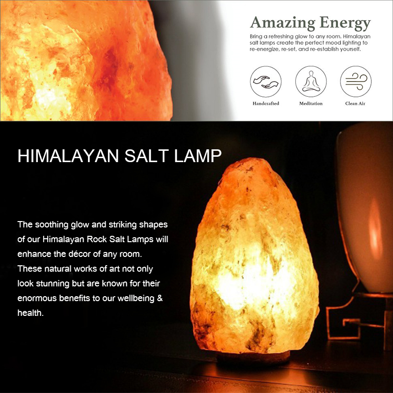 Himalayan Ionic Natural Salt Lamp Free Shipping