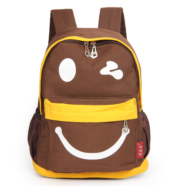 Children Smile Face Cartoon Casual Student School Bag Backpack ...